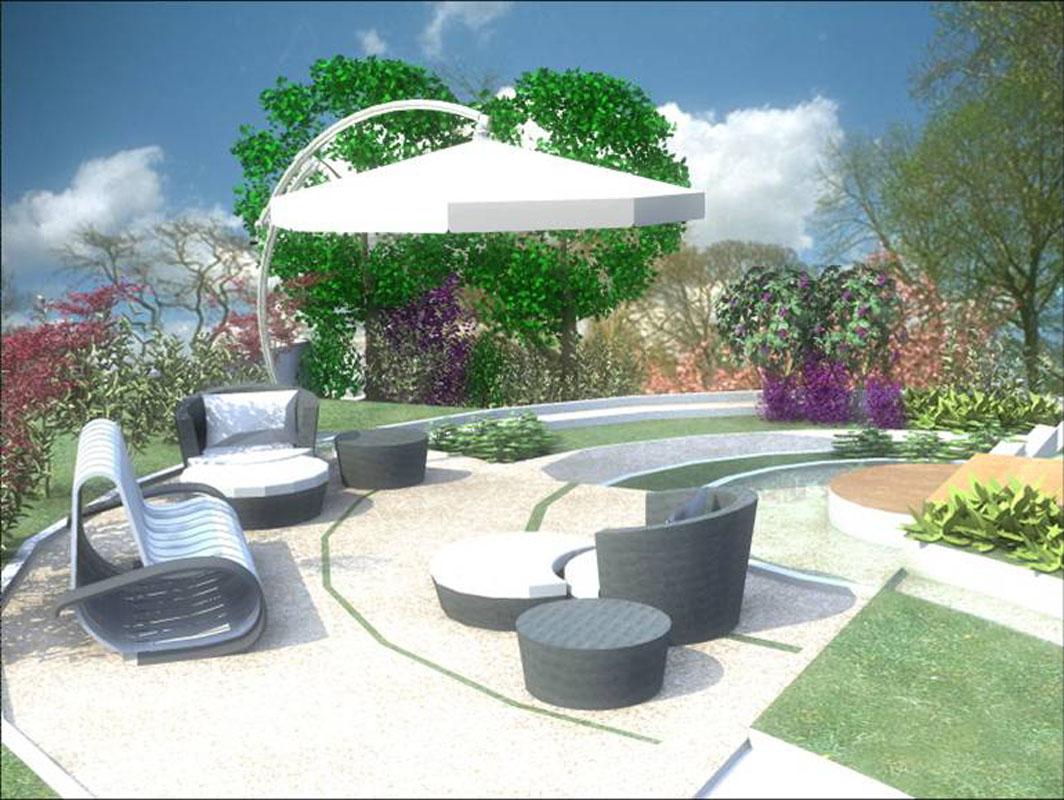 Projekt ogrodu przydomowego Niemcy