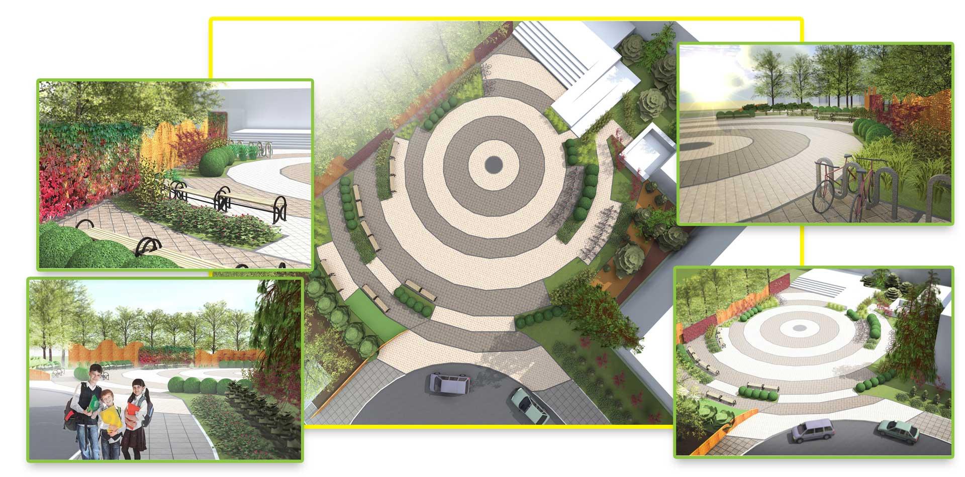Projekt zieleni przy Szkole Podstawowej nr 1 w Człuchowie