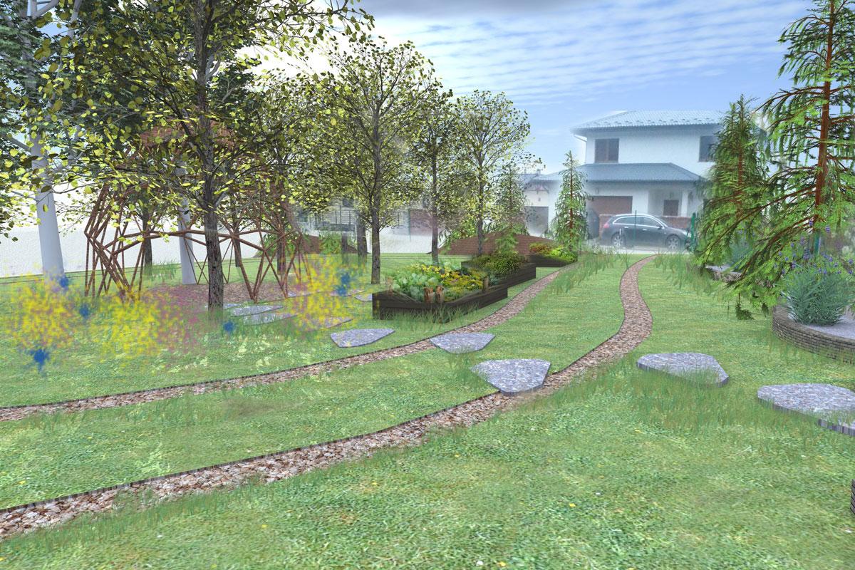 Projekt ogrodu Człuchów Przylesie